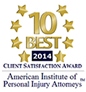 Client Satisfaction Award - American Institue of Personal Injury Attorneys
