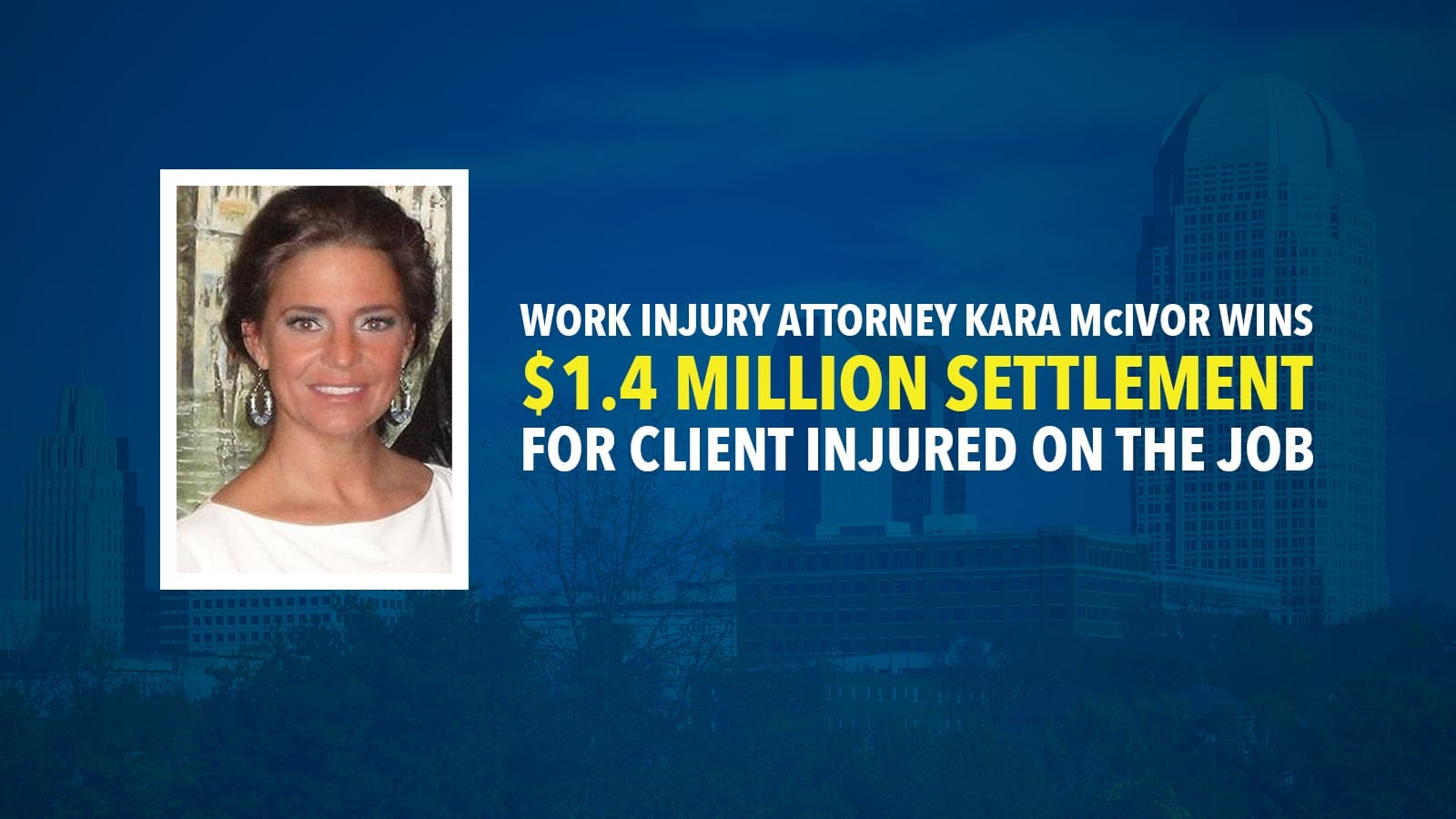 Kara McIvor Work Injury Settlement Photo