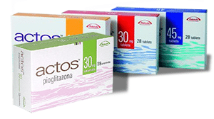 Boxes of Actos Stock Photo