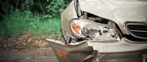 Damaged Front Bumper Stock Photo