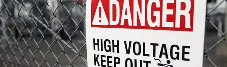 Danger: High Voltage Sign Stock Photo