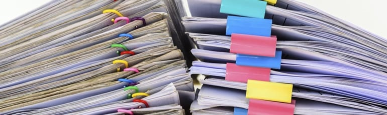 Stack of Legal Documents Stock Photo