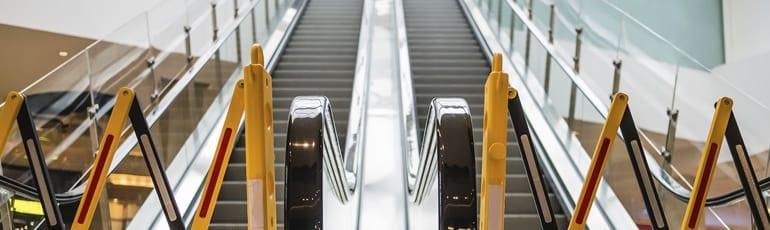 Escalators Out Of Service Stock Photo