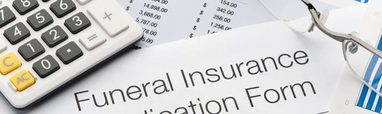 Funeral Insurance Application Form Stock Photo