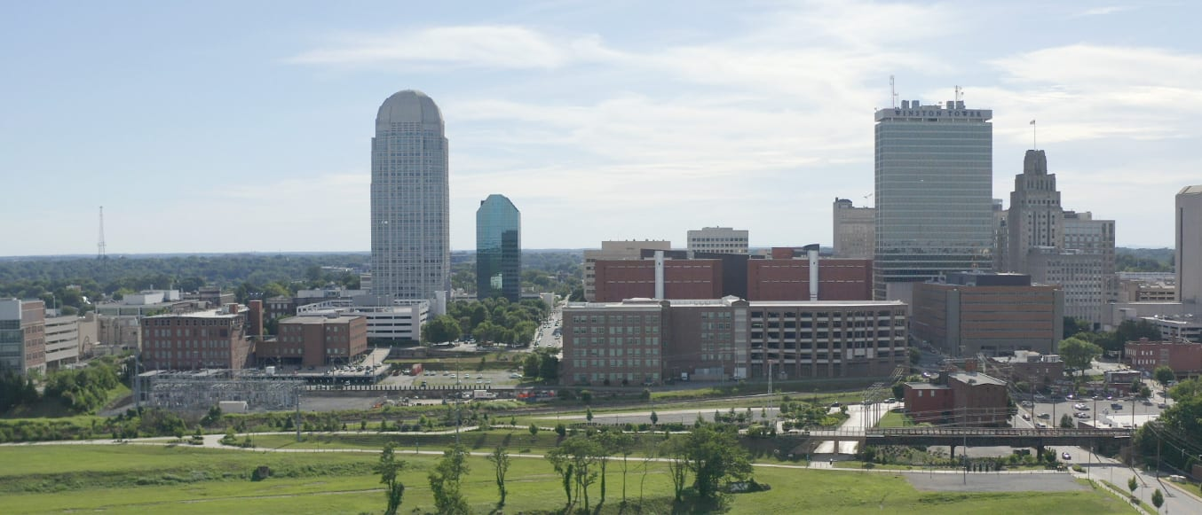 Winston-Salem, North Carolina Skyline Stock Photo