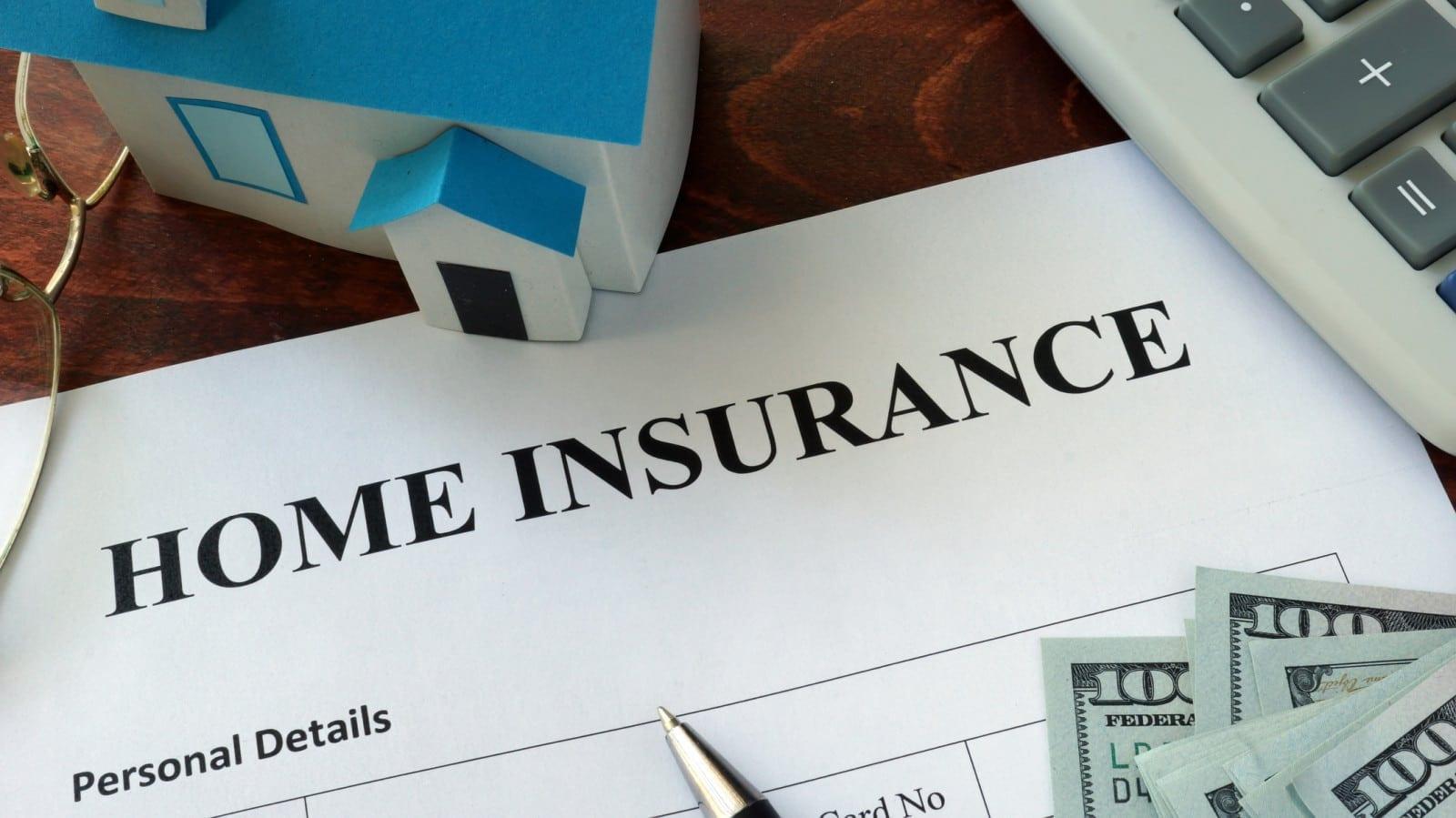 Home Insurance Documentation Stock Photo