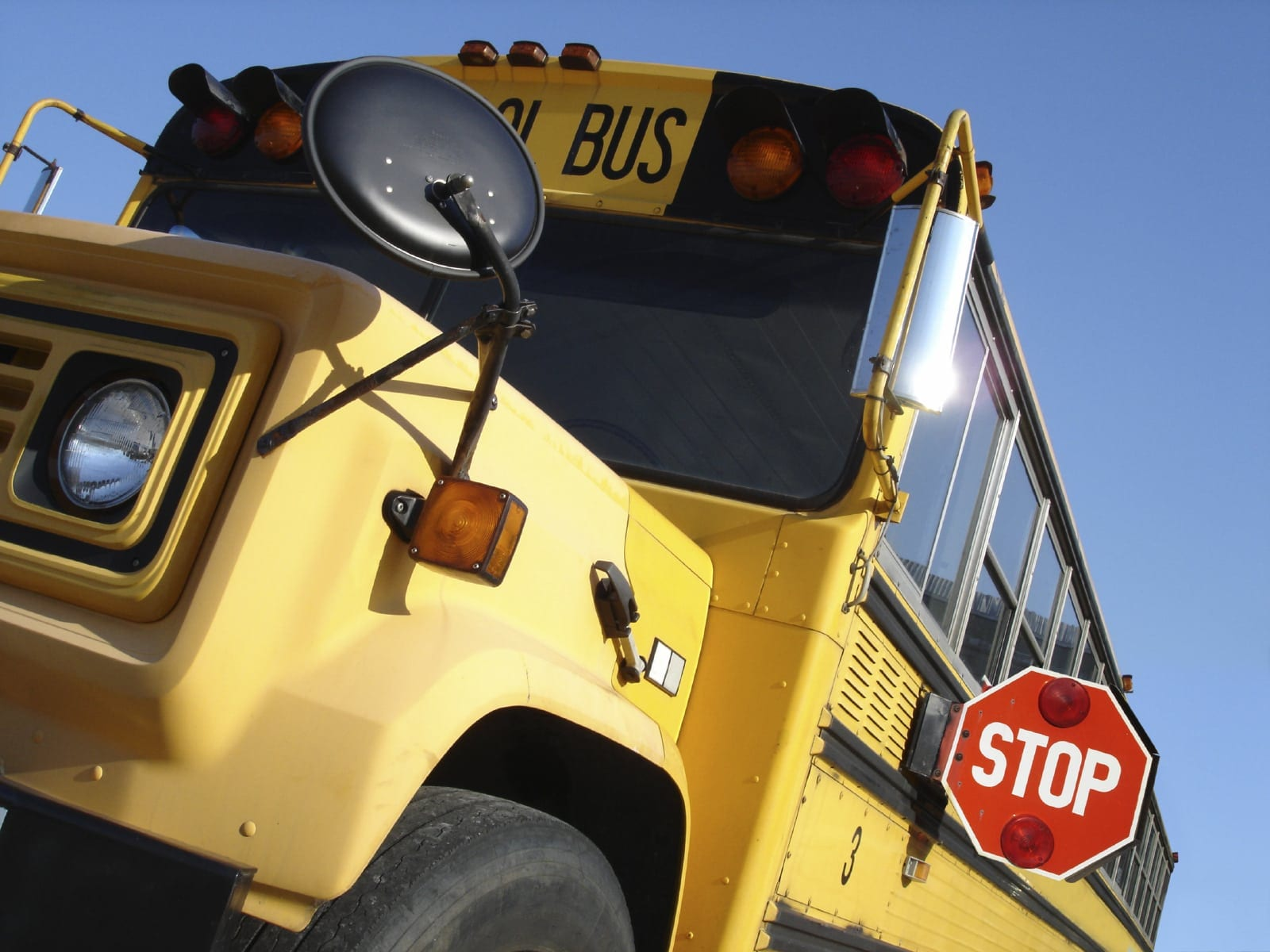 Large School Bus Stock Photo