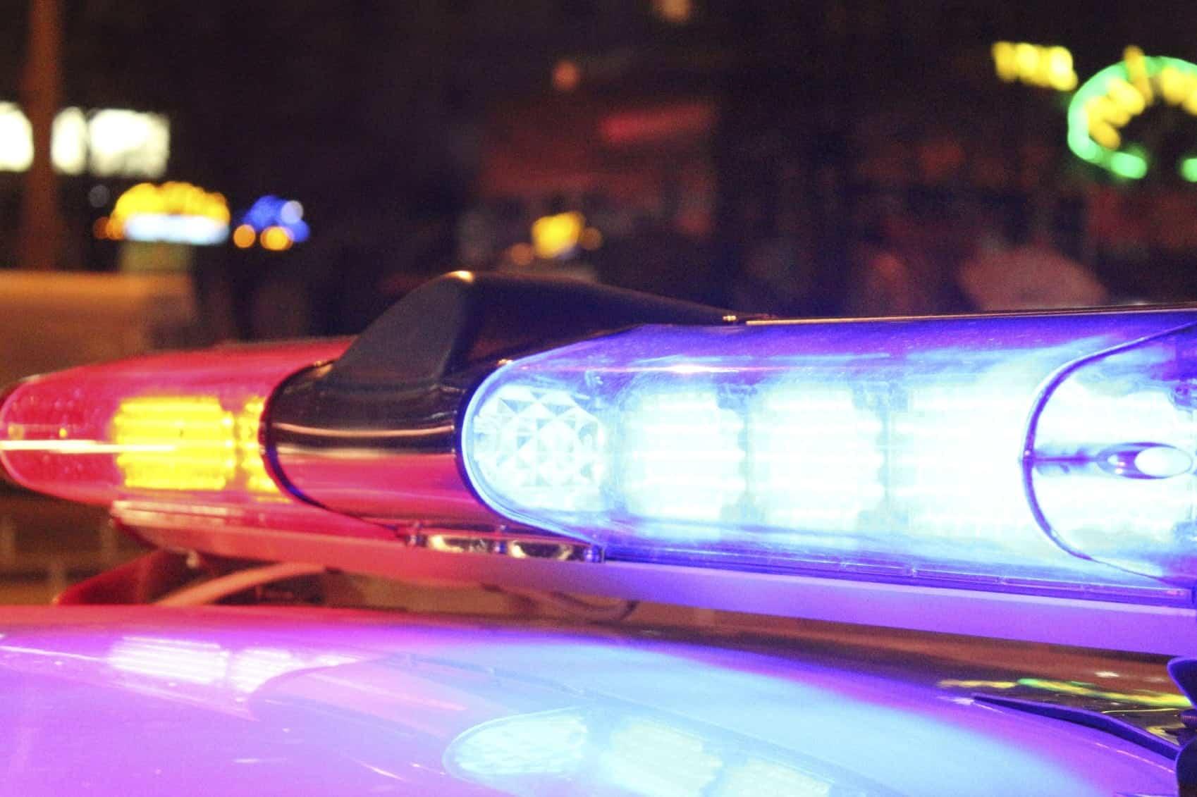 Police Cruiser Lights Stock Photo
