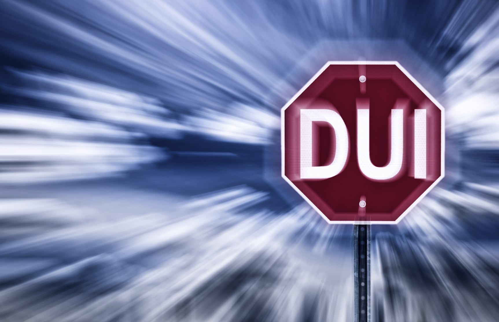"Stop Sign That Reads ""DUI"" Stock Photo"