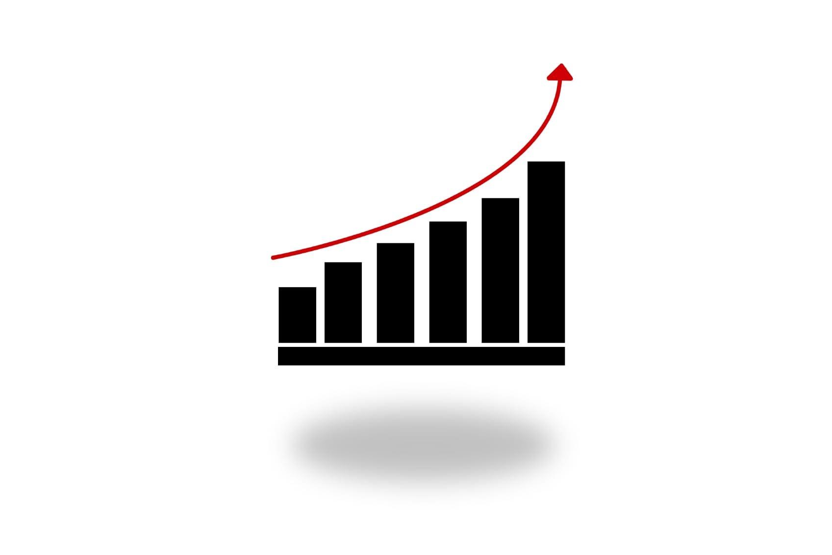Chart Showing An Upward Trend