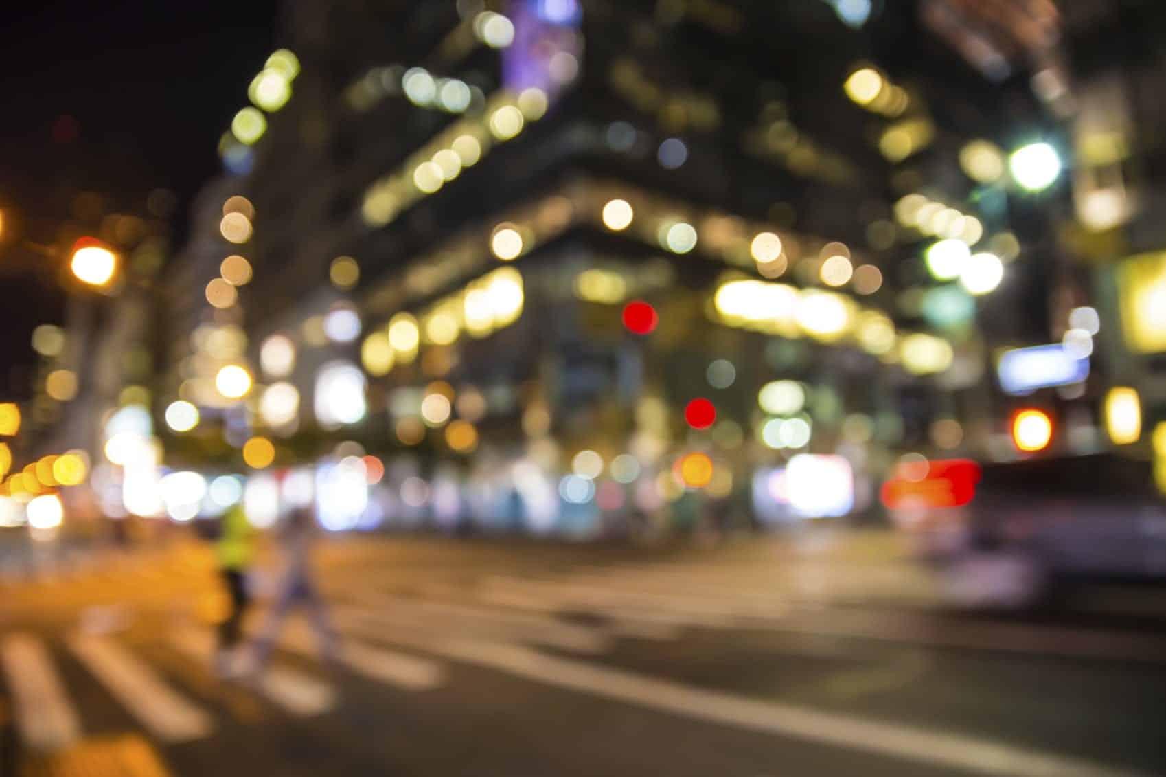 Blurred Cityscape Stock Photo