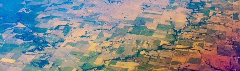 Aerial Photo Of Rural Area In North Carolina Stock Photo