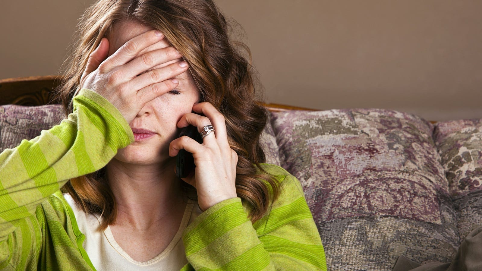 Young Woman With Worried Look On Her Face Stock Photo