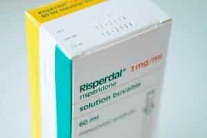 Box Of Risperdal Tablets Stock Photo