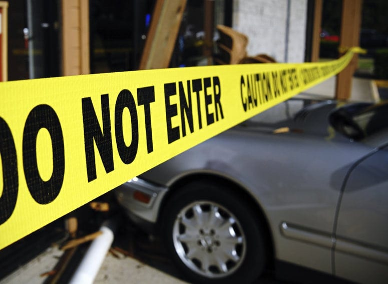 Do Not Enter Caution Tape Stock Photo