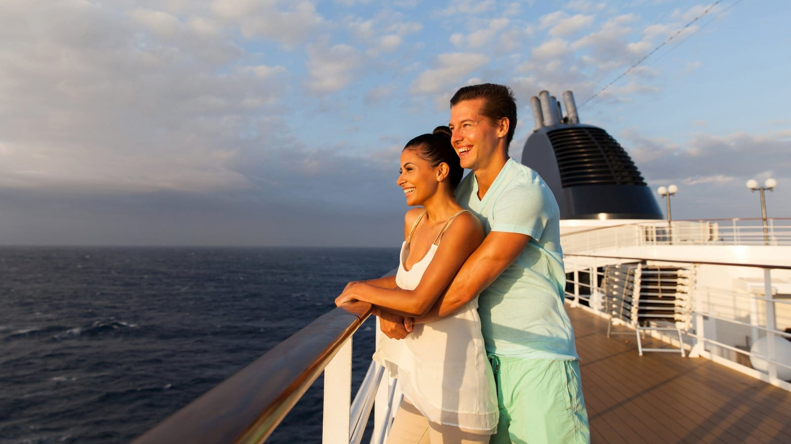 Husband and Wife On A Cruise Ship Stock Photo