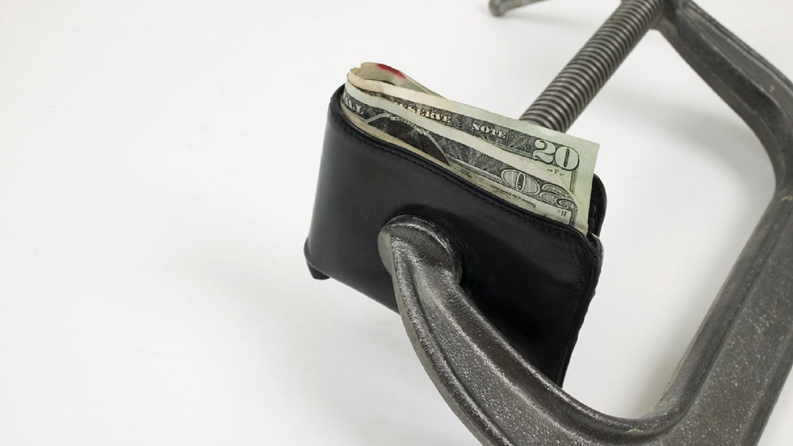 Wallet Tight Budget Stock Photo