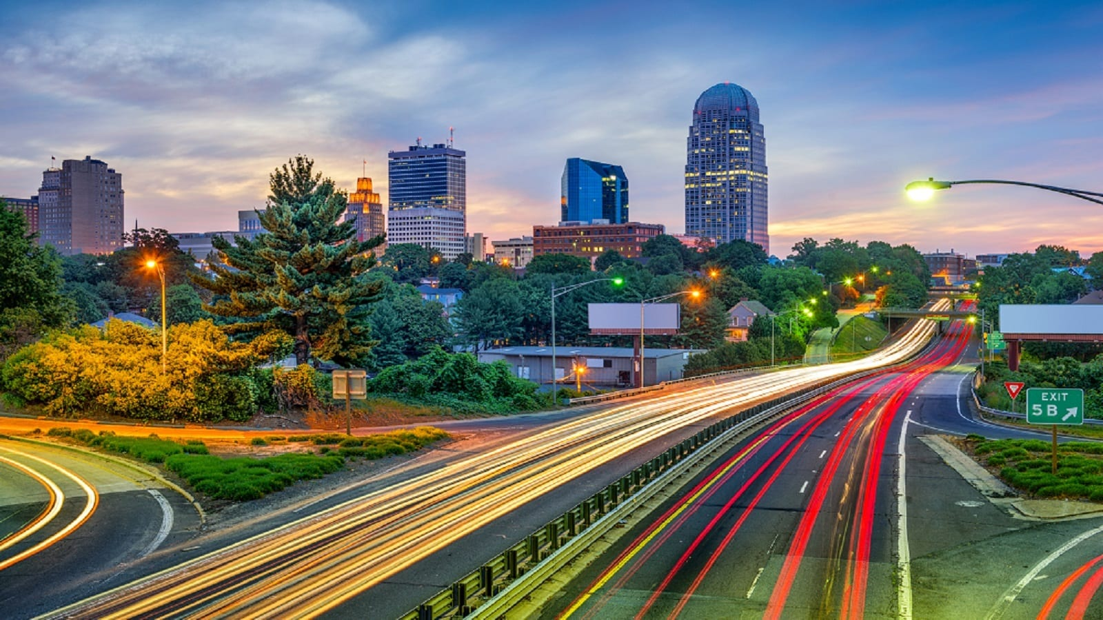 Winston-Salem, North Carolina Skyline