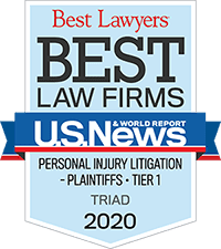 Selected for North Carolina's Best Law Firms 2020, by US News and World Report