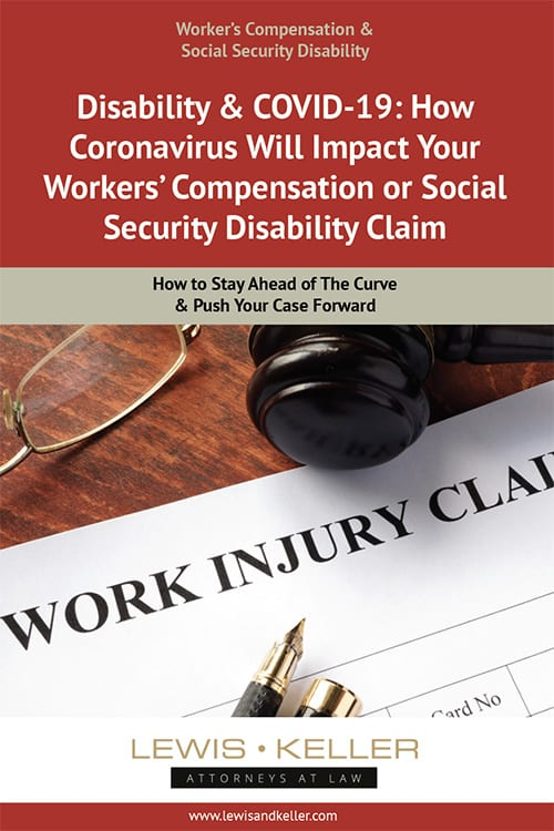 "Cover of ""Disability & COVID-19: How Coronavirus Will Impact Your Workers' Compensation or Social Security Disability Claim"" e-book"