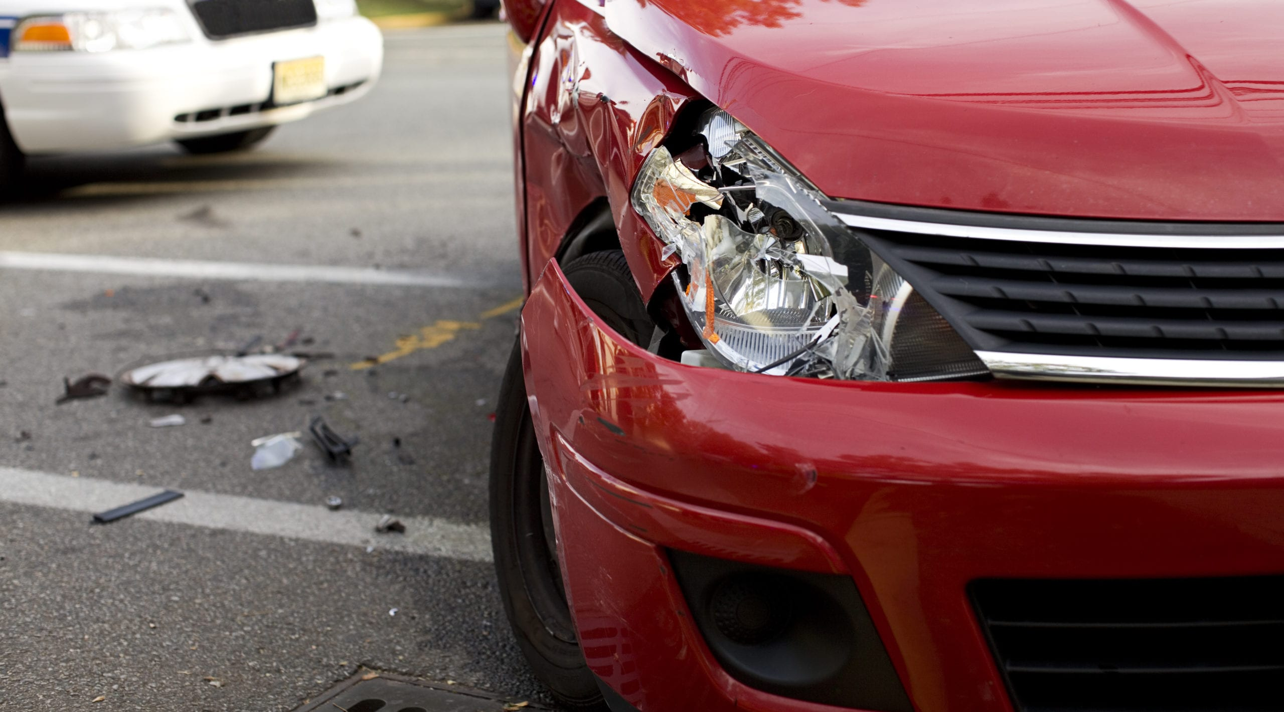 damage after a car accident in Greensboro, NC