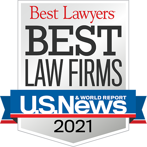 Selected for North Carolina's Best Law Firms 2021, by US News and World Report