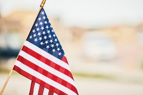 american flag in Winston-Salem