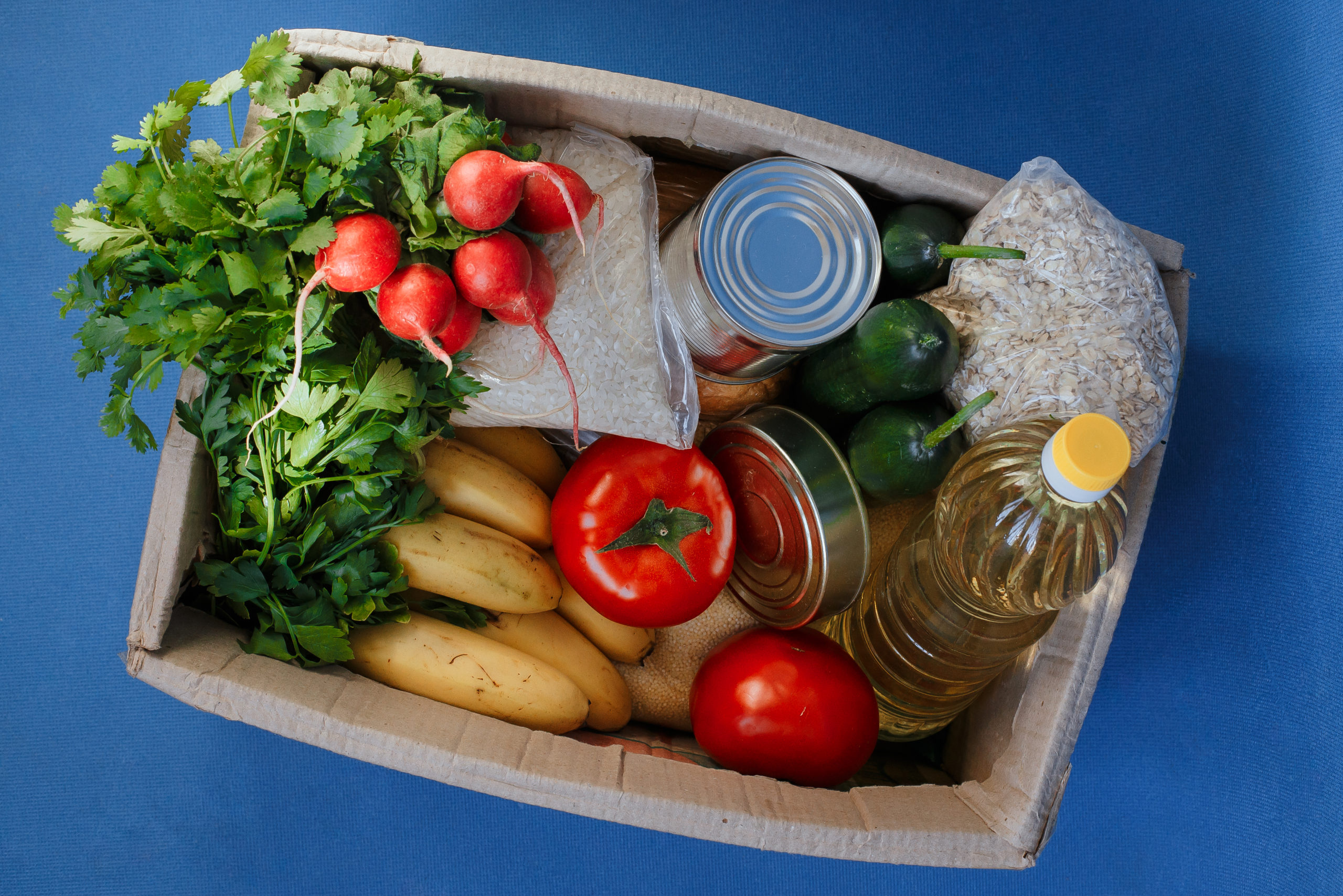 Second Harvest food donation box