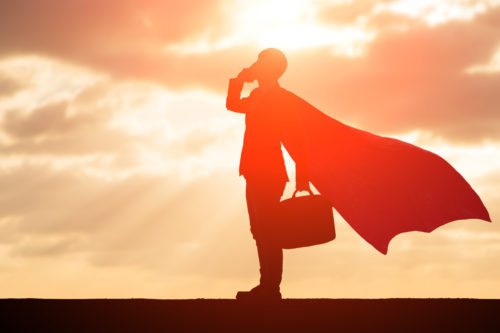 a personal injury lawyer in Winston-Salem with a cape on
